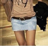 2013 spring and summer q602 nostalgic distrressed denim short skirt 68 summer