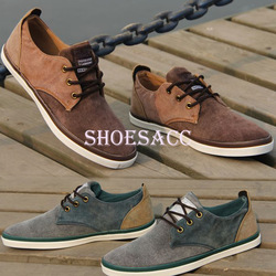 2013 Fashion Men Canvas Shoes Casual Mens Shoes Classic Lace up Flat Shoes Free shipping S13033(China (Mainland))