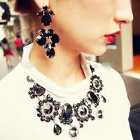 Min Order $10 Emoda acrylic gem stud earring bright flower earrings luxury