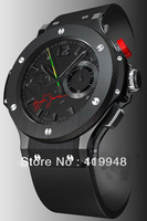 Free shipping limited sport   Movement series Automatic machine watch black dial rubber strap