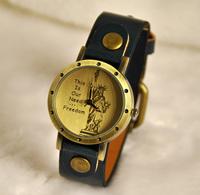 Statue of liberty fashion table strap quartz watch vintage watch rivet strap table