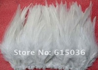 Free Shipping! Hot sale promotion 500pcs/lot white short 9-15cm ROOSTER SADDLE CAPE CRAFT FEATHER for sinamay hat/party mask