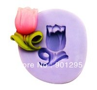 FREE SHIPPING Hot Sale 3D Mini Tulip Silicone Soap Mold Baby Handmade Candle Candy Jelly Cake Crafts DIY Cake Mold Fondant Tool