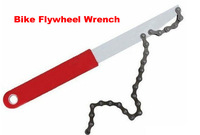 2013WholeSale Flywheel Wrench Bicycle Repair Tools Kit Bike Cycling Chain Flywheel Wrenches Sprocket Remove Too[w02056]