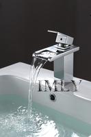 Modern Single Handle Waterfall Bathroom Sink Faucet (Chrome Finish)Bathroom Basin Faucet