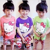 new 4pcs/lot Wholesale baby girls T-Shirt  Kids Children Tops Summer Wear Short Sleeve Clothing clothes Girls dress Girl T-shirt