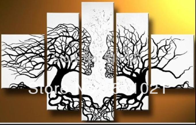 Cuadros abstractos de arboles en blanco y negro - Imagui