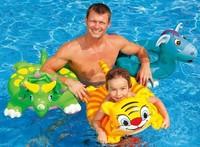 Free shipping Children swimming circle animal floating ring swim ring life buoy armpit circle-Tiger-Rhinoceros-Donkey