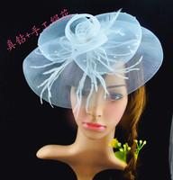 White bride hair accessory  feather hair accessory hair accessory handmade silk flower hair accessory