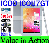 7 inch ICOO ICOU7GT Allwinner A31 Quad Core Tablet PC 2GB RAM 16GB ROM IPS Screen 1280x800 Built-in Bluetooth Dual Camera Ext.3G