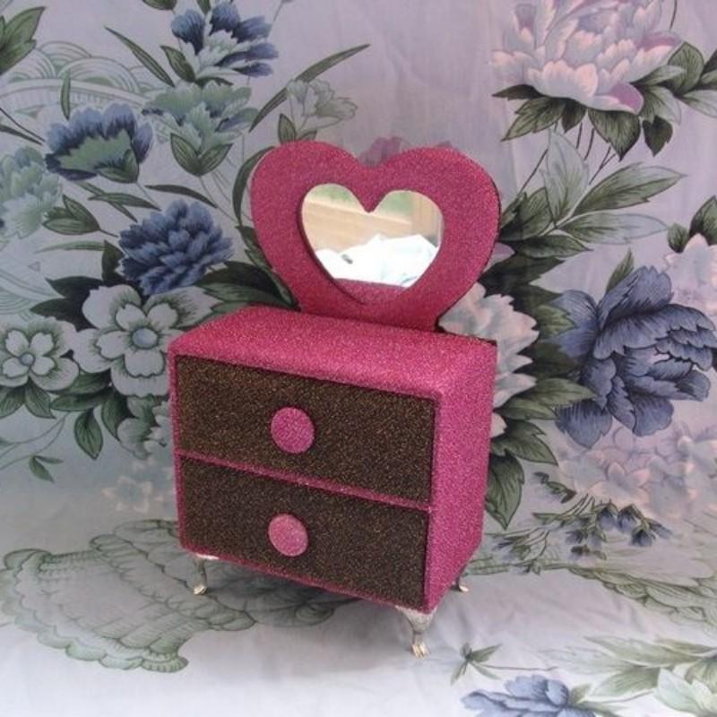 Love series princess series furniture, jewelry box fashion flannelet dressing dresser drawer(China (Mainland))