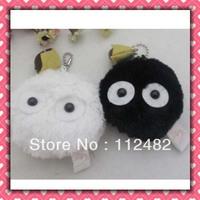 Free shipping TOTORO 6cm Black & white dolls 100pcs/lot plush toy pendant