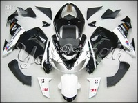 K259 White Black Full Fairing for KAWASAKI Ninja ZX10R 06 07 ZX-10R 06-07 ZX 10R 2006 200 ZX 10 R