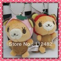 Free shipping Bear 8cm doll mix 100pcs/lot plush toy pendant