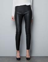 2015 fashion brief PU leather ladies' elastic skinny pencil pants,free shipping