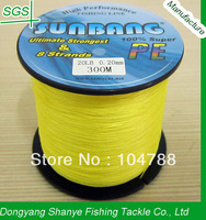 Free Shipping 8 Strands 15/20LB 300M Spectra Braided Fishing Line  -- SUNBANG