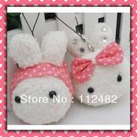 Free shipping Cute Rabbits 10cm doll mix 100pcs/lot plush toy pendant