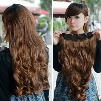 Hair Extension Women's Long Curl/Curly/Wavy 6 colors Clips-On sexy stylish  W002