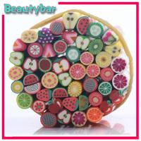 Free shipping (300pcs /lot,50pcs/bag) Mixed 3D  Nail  Decroration Polymer Clay Canes Sticker for DIY Nail Art