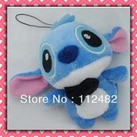 Free shipping bow tie stitich 10cm doll 100pcs/lot plush toy pendant