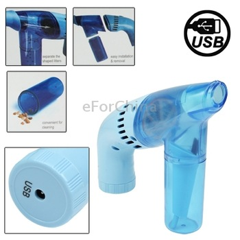 Gun Shape Mini Electric  Compact, Handy and Lightweight Car Vacuum Cleaner Dust Collector,