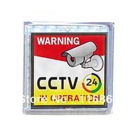 Solar Powered Flashing CCTV Warning Sign