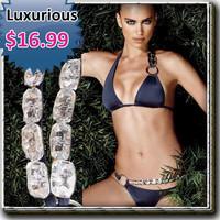 Free shipping/Synthetic diamond bikini swimsuit swimming suit on sale for women swimware swimwear Summer Beach sets