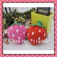 Free shipping strawberry 8cm doll mix 100pcs/lot plush toy pendant