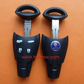 High quality SAAB 4 button remote key blank with blade, Opel key shell, saab remote key case