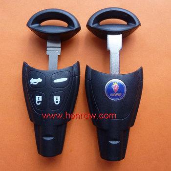 High quality SAAB 4 button remote key shell with blade, Opel key blank, saab remote key case