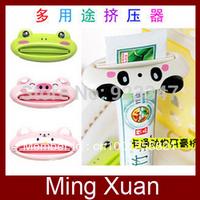 Free Shipping Fashion Cute Cartoon Animal Toothpaste Squeezer/Toothpaste Tube Holder/Toothpaste Clamp 5pcs/lot