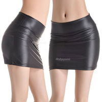 Hot Women Ladies Faux Leather Bodycon High Waisted Pencil Mini Skirt Free Shipping
