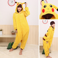 Free Shipping Japan Anime Pokemon Pikachu Costume Animal Cosplay Kigurumi Pajamas S M L XL
