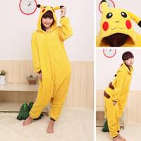Free Shipping Japan Anime Pokemon Pikachu Costume Animal Cosplay  Pajamas S M L XL
