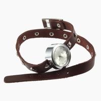 Rivet Leather Bangle Watch Quartz Bracelets Wrist Watch