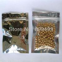 100pcs 10x15cm=4'x6' Silver+Transparent Zipper lock Composite plastic bag Wholesale/retail free shipping