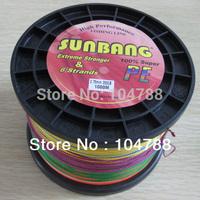 Free shipping  200LB 0.75mm 6 strands 1000M Long Line Fishing Super Strong Fishing Line  --SUNBANG
