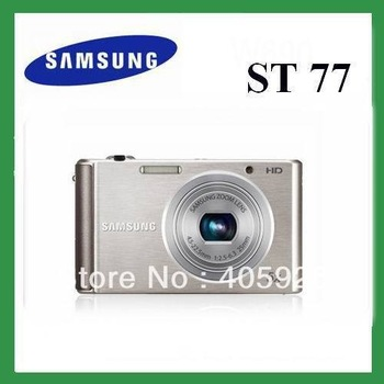 Original Genuine Samsung ST77 Digital Camera 16.1MP 5x Optical Zoom 2.7 inch LCD White/Silver color