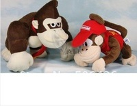 "free shipping Super Mario bros 10"" Donkey Kong and 7""monkey Plush doll Toy mario plush toy"