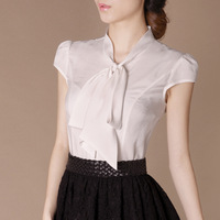 2013 summer OL outfit elegant vintage elegant brief short-sleeve shirt b95 plus size available