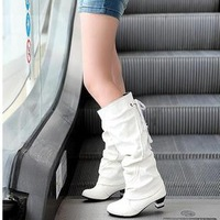 2013 new women boots high heels shoes fashion sexy mid- calf pumps white high-heeled boots