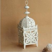 Romantic Elegance Classical Iron Wall Mounted Candle Holders Zakka Storm Lantern Wedding Home Decoration