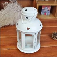 Romantic Elegance Classical Iron Star Candle Holders Zakka Storm Lantern Wedding Home Decoration