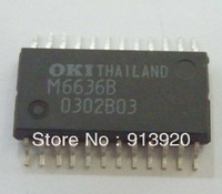 Free shipping 2PCS/LOT OKI M6636 Communication Protocol Conformity Transmission Controller for Automotive LAN IC (MSM6636)