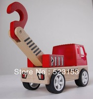 Baby Toys Eco-Friendly Wooden Truck  engineering vehicle the crane