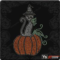 YSSTONE A13008 Western  Festival Rhinestone Hot Fix Transfer For Halloween