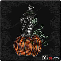 YSSTONE A13008 Western  Festival Rhinestone Hot Fix Transfer For Halloween