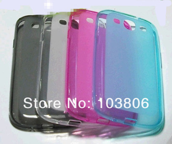 2000pcs Soft TPU Gel  matte Clear sline Back Cover Cases for Samsung I9300 Galaxy S4 S (mix color)