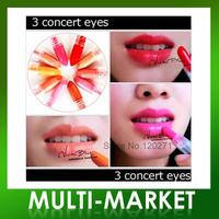 Free shipping/ 3 Concept Eyes Moisturizing Lipstick Mini Sample Lip Gloss Lipstick