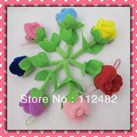 Free shipping Colorful Roses 8cm mix dolls 100pcs/lot plush toy pendant